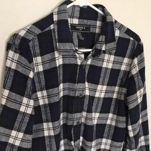 Other - Blue and white Flannel shirt